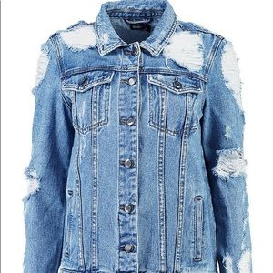 Distressed Oversized Denim Jacket